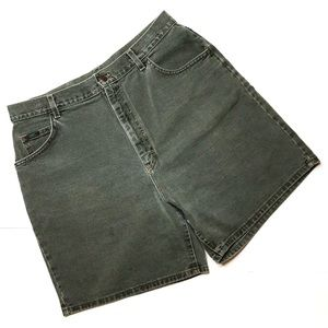 Vintage 80s 90s Lee green high rise denim shorts